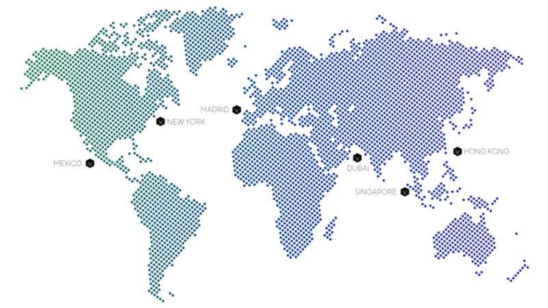 Taiger's offices map