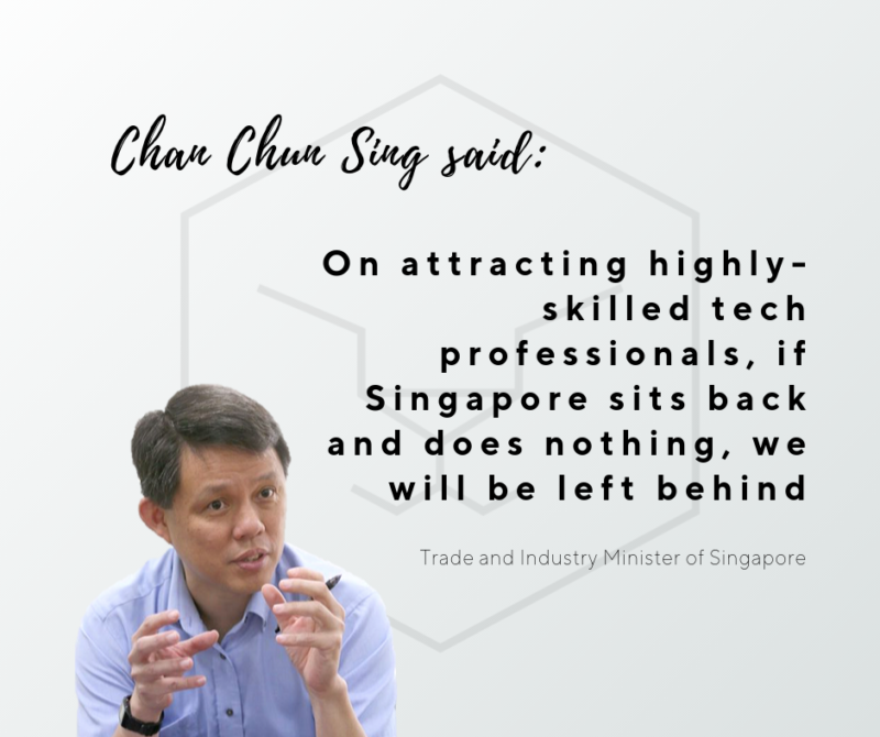 Chan Chun Sing, Trade and industry minister of Singapore mention Taiger